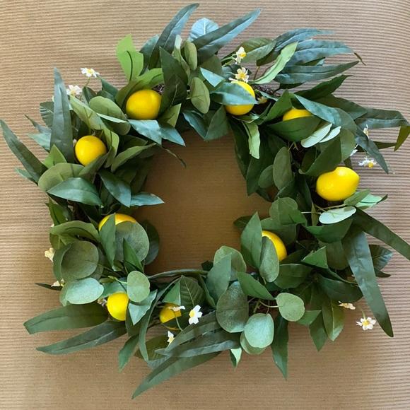 Lemon floral door wreath